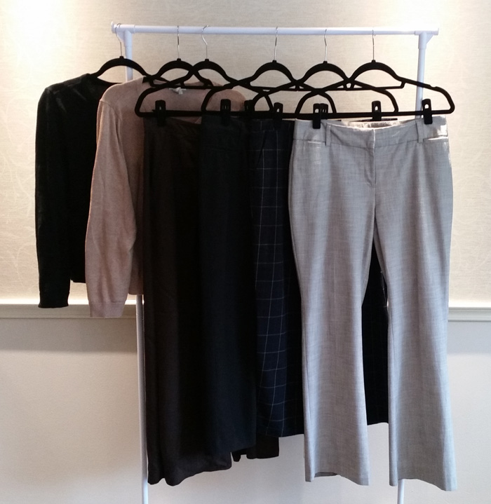 Cardigans and Trousers